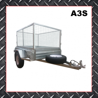 Trailer Hire 6x4 Caged Trailer A3S