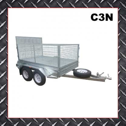 Trailer Hire 8x5 Caged Ramp Trailer C3N