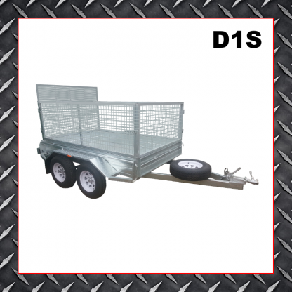 Trailer Hire 8x6 Caged Trailer D1S