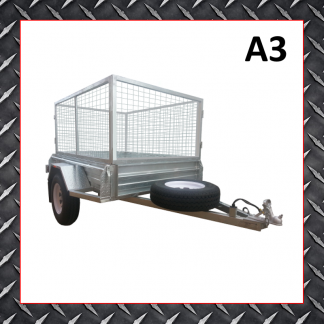 6x4 Cage Trailer A3