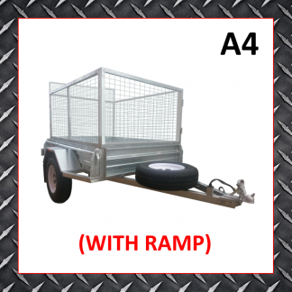 6x4 Cage Trailer (Ramp) A4