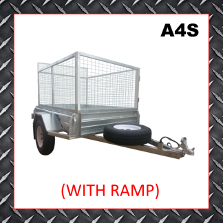 Trailer Hire 6x4 Caged Trailer Ramps